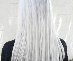 color hair, colorful, and silver image