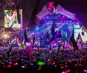 coldplay, concert, and festival image