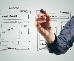 prototyping tools, website wireframe, and wireframe design image