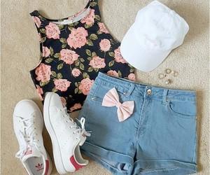 adidas, shorts, and bow image