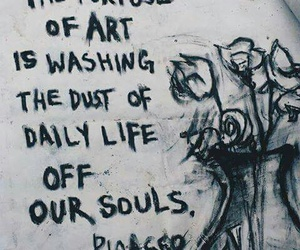 art, picasso, and quotes image