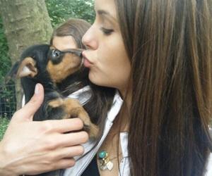 Nina Dobrev, dog, and elena gilbert image