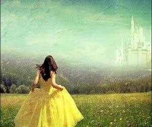 castle, princess, and yellow image