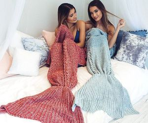 mermaid, friends, and bff image
