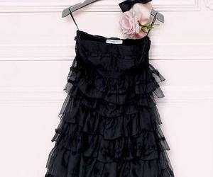 dress, black, and dior image