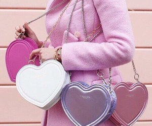bags, fashion, and hearts image