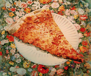 pizza, flowers, and food image