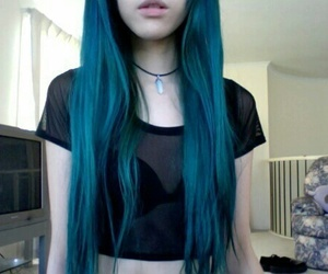 blue, hair, and necklaces image