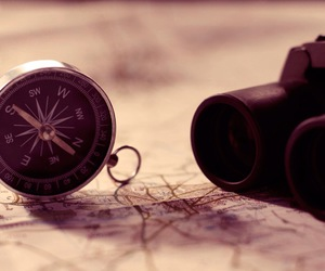 travel, compass, and map image