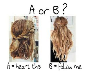 hair, choose, and long image