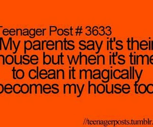 parents, teenager post, and house image