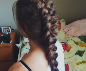 beauty, braid, and brown image