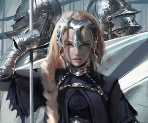 art, fantasy, and warrior image