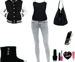 black, Polyvore, and fashion image