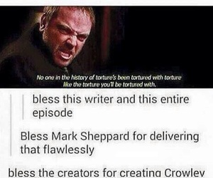supernatural, crowley, and mark sheppard image