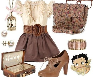 vintage, clothes, and outfit image
