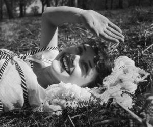 audrey hepburn, black and white, and vintage image