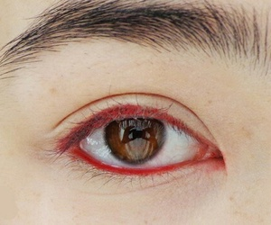 red, eye, and eyes image
