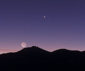 lilac, moon, and place image