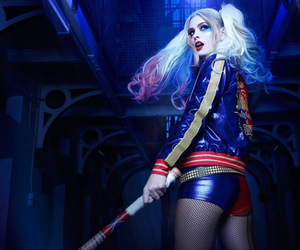 cosplay, harley quinn, and suicide squad image