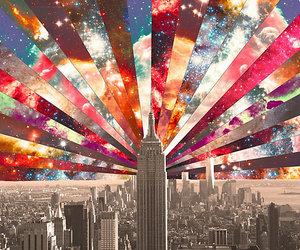 city, galaxy, and new york image
