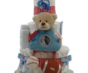 diaper cake, baby gift, and boy gift image