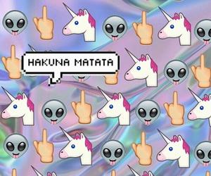 unicorn, alien, and background image