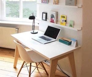 desk, interior design, and office image