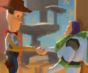 woody, buzz, and disney image
