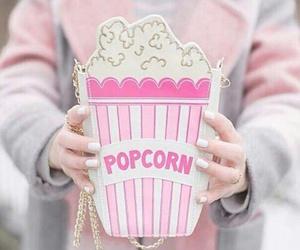 popcorn, pink, and bag image