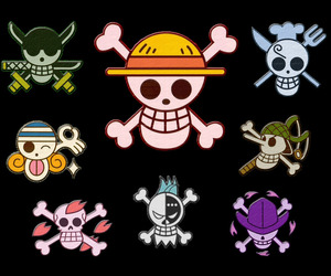 jolly roger, straw hat pirates, and robin nico image