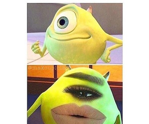 funny, makeup, and tutorial image
