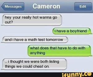 cheat, funny, and tumblr image