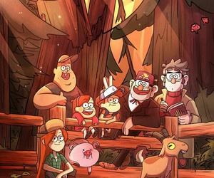 gravity falls, mabel, and family image