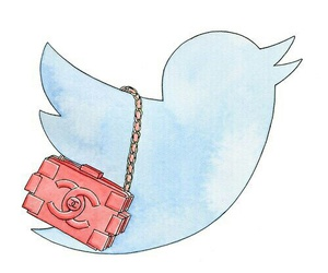 overlay, chanel, and twitter image