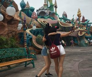 amusement park, ariel, and best friends image
