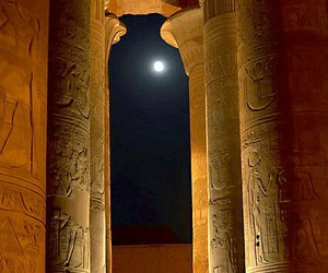 egypt, moon, and night image