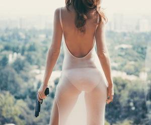 gun, dress, and sexy image