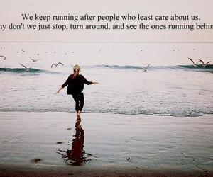 text, quote, and running image