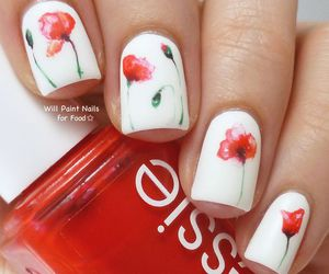 nails, essie, and flowers image