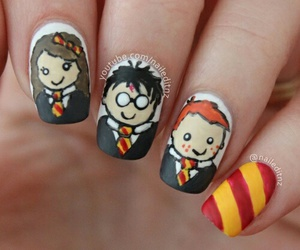 harry potter, hermione, and nails image