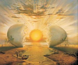 egg, art, and sun image