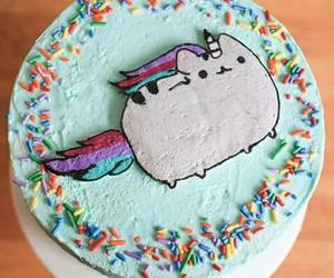 unicorn, cake, and cat image