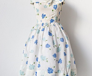 1950s, blue, and dresses image