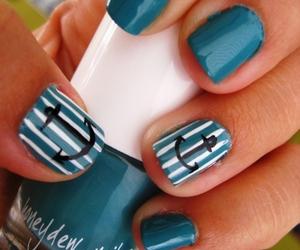 nails, blue, and anchor image