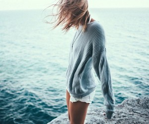 body, sea, and sweater image