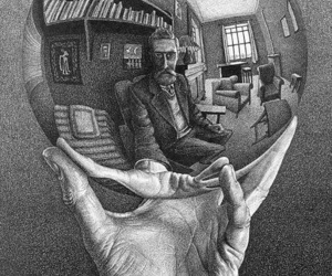 art, drawing, and escher image