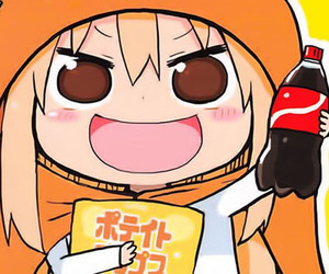anime, chips, and cola image