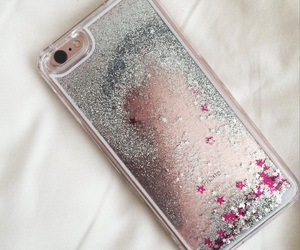 case, glitter, and gold image