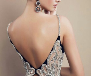 gown, open back, and back detail image